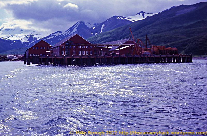 False Pass Alaska Cannery Viewed From the Water - 1972, Peter Pan Seafoods