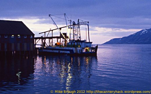fishing tender at the peter pan cannery in false pass alaska