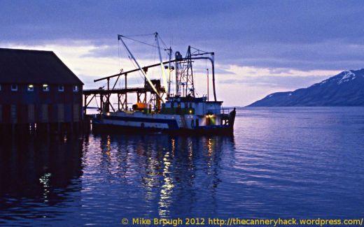 fishing tender at the peter pan cannery in false pass alaska